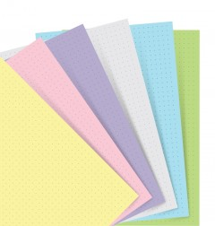 Filofax Notebook Pastel Dotted Journal Vulling